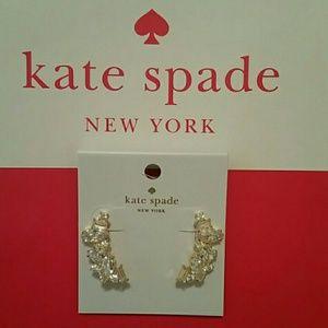 Kate Spade Crystal Cluster Crawler Earrings